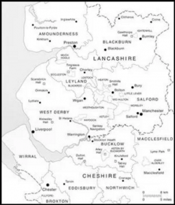 Map Of Lancashire And Cheshire